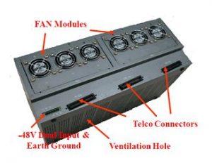 XLR5000 Ethernet Extender Rear View