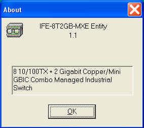 IFE 8T2GB Industrial Ethernet Switch SNMP MIB -EMM Menus