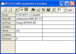 IFE 8T2GB Industrial Ethernet Switch SNMP MIB - EMM Agent Menu