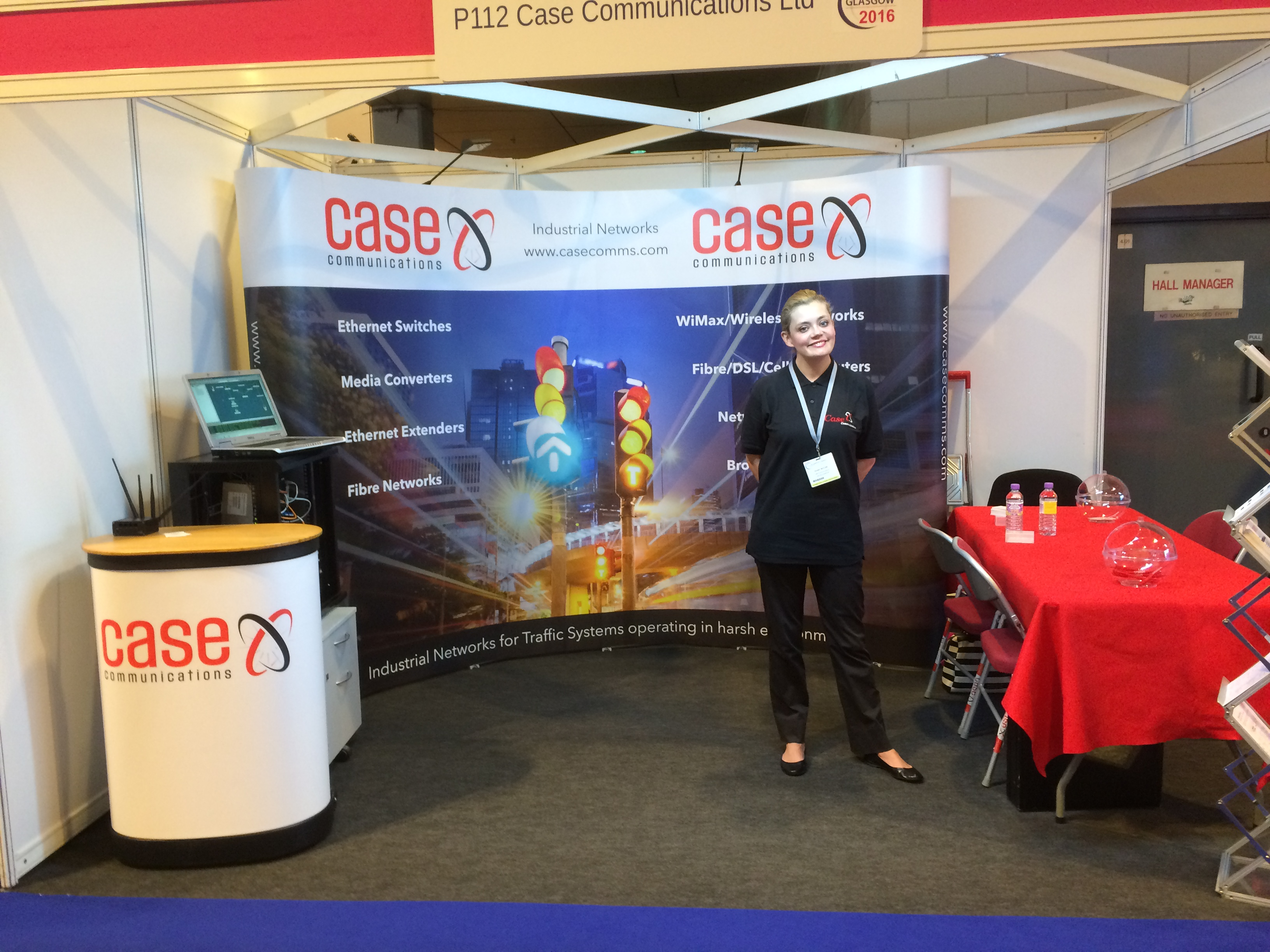 Exhibition Stand Builders Glasgow : Vivien taylor after building the stand at its congress